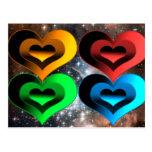 Collage-x de los corazones postales