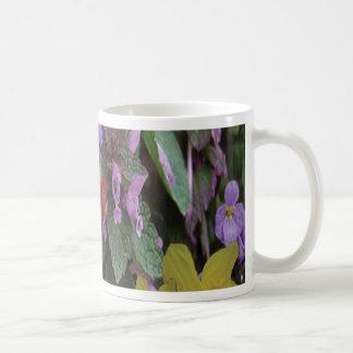 Collaged Floral Bouquet Coffee Mug