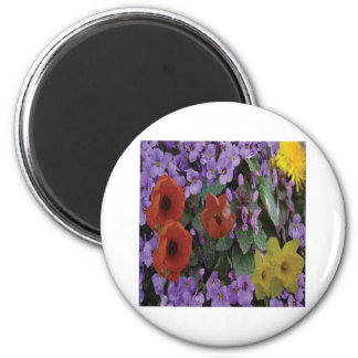 Collaged Floral Bouquet Magnet