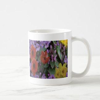 Collaged Floral Bouquet Mug