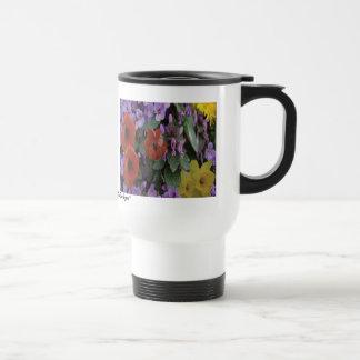 Collaged Floral Bouquet Mug - Travel