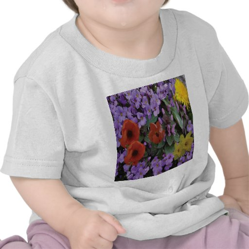 Collaged Floral Bouquet Tee Shirts
