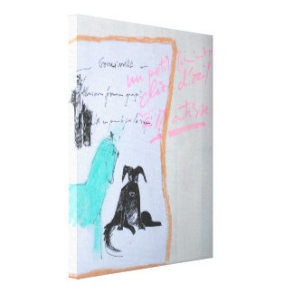 Collages Bruyants Artist's Book Horse and Dog C Canvas Print
