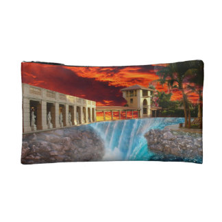 Collapse pool cosmetics bags