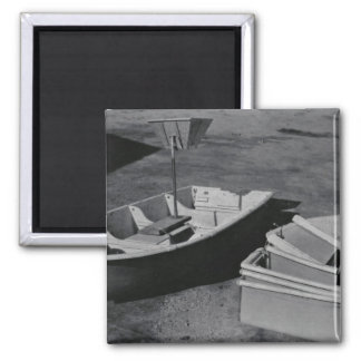 Collapsible Boat Refrigerator Magnet