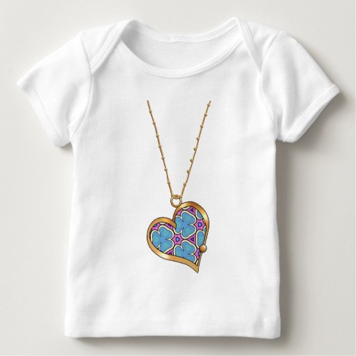 Collar 06 del corazón playera de bebé