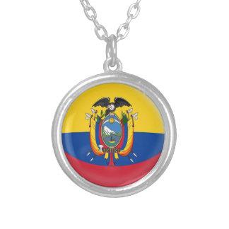 """Collar + 18"""" bandera de cadena de Ecuador"""