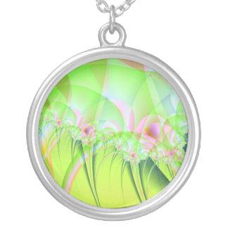 Collar abstracto de las flores de IWD