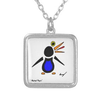 Collar abstracto del cuadrado del pingüino