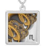 Collar abstracto del zodiaco del escorpión del rem