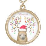 Collar adaptable de la alpaca del navidad