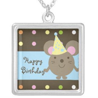 Collar adaptable del feliz cumpleaños del ratón de