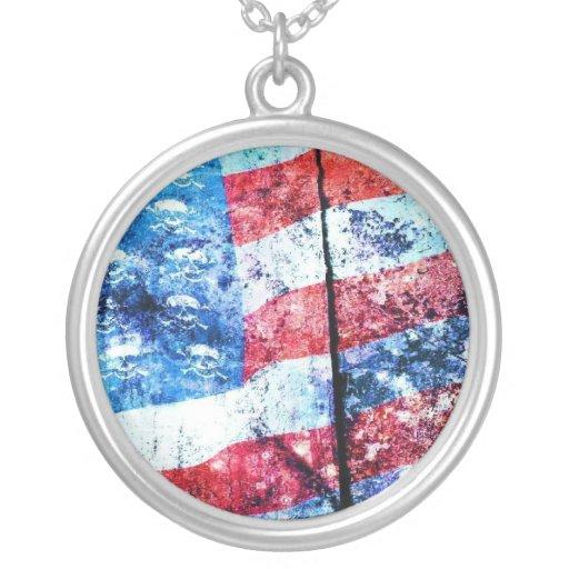 Collar americano de la bandera del cráneo
