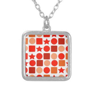 Collar anaranjado de Geometrics
