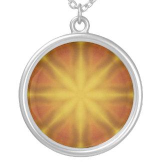 Collar anaranjado de Kscope de la meditación del c