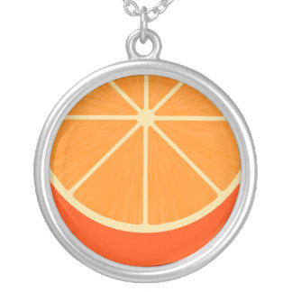 Collar anaranjado lindo de Kawaii de la rebanada