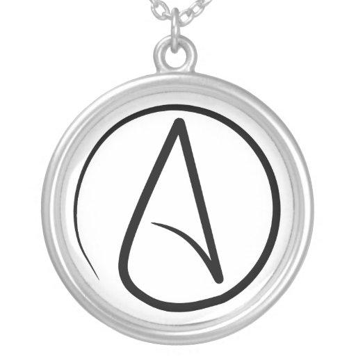 Collar ateo delgado del símbolo