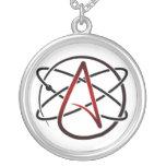 Collar ateo plateado plata