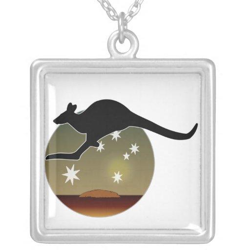 Collar australiano del icono del canguro