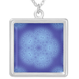 Collar azul abstracto del diseño floral