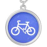 Collar azul apenado de la muestra de la bicicleta
