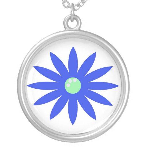 Collar azul de la flor