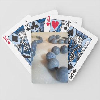 Collar azul de la gota baraja de cartas bicycle