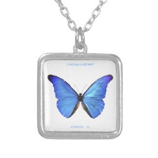Collar azul de la mariposa
