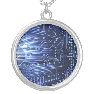 Collar azul de la placa de circuito