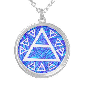 Collar azul de la tríada del símbolo del aire de Z