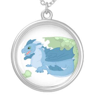 Collar azul del Hatchling del dragón