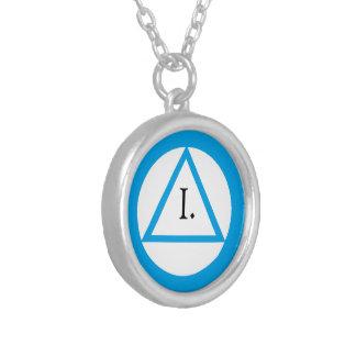 Collar azul del símbolo del AA - años del