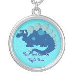 Collar azul del Stegosaurus