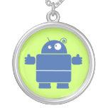 Collar azul lindo del robot