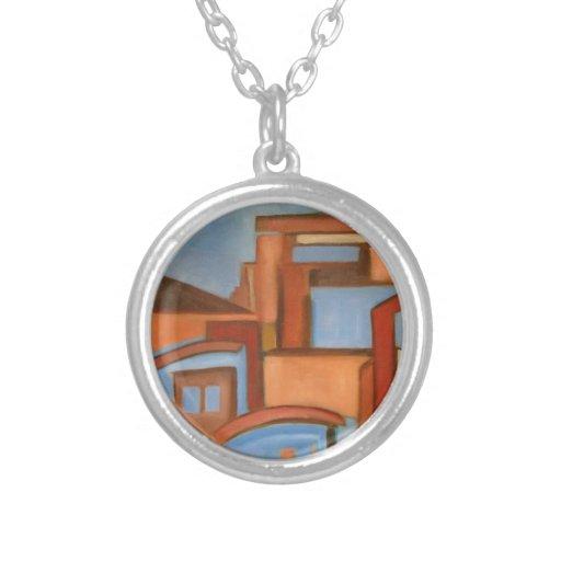 collar azul moderno del extracto del arte