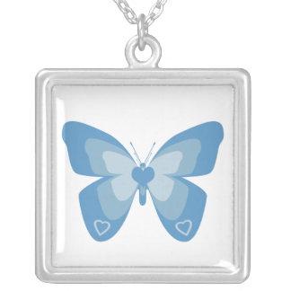 Collar azul y blanco de la mariposa
