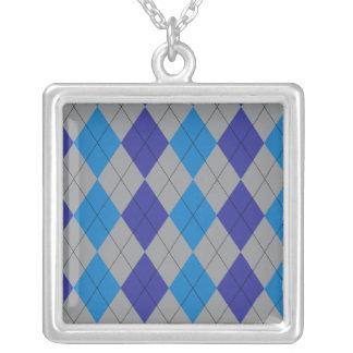 Collar azul y gris de Argyle