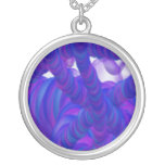 Collar azul y púrpura de la masa de la burbuja