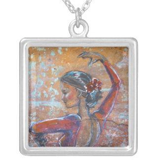 """Collar """"Bailaora """" del bailarín del flamenco"""