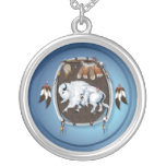 Collar blanco del escudo del búfalo