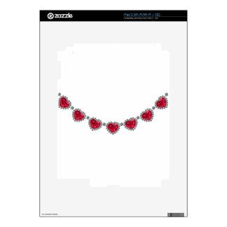 Collar bonito del rubí de la mujer calcomanías para el iPad 2
