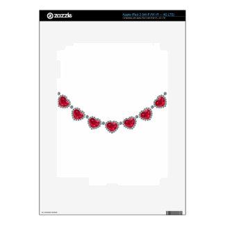 Collar bonito del rubí de la mujer pegatina skin para iPad 3