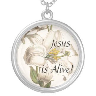 Collar botánico del cristiano de la flor del