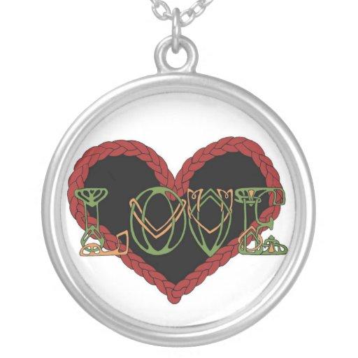 Collar céltico de la tarjeta del día de San Valent