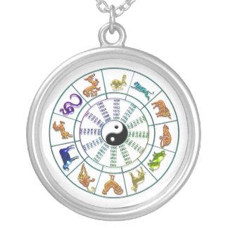Collar chino de la rueda del zodiaco