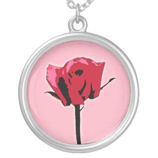Collar color de rosa rojo y rosado