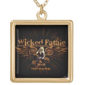Collar coloreado oro travieso de Fatale