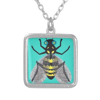 Collar con arte colorido de la abeja