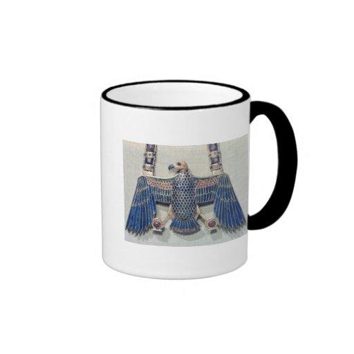 Collar con el colgante del buitre tazas de café