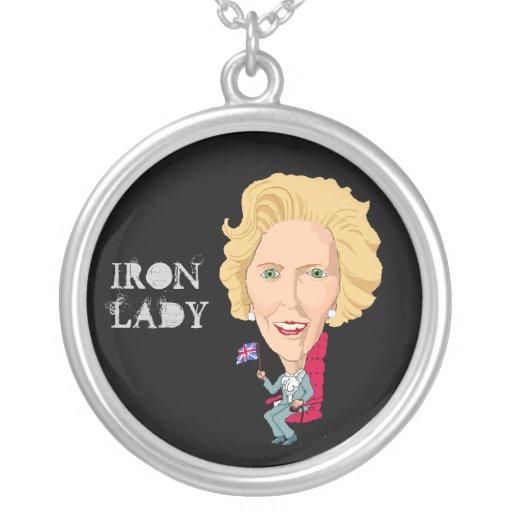 Collar con la caricatura BRITÁNICA Thatcher de la
